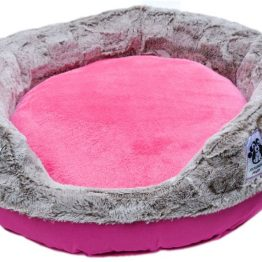 Fur Paw Fluffy Round Bed