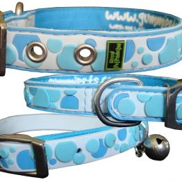 Gummi Collars - Blue Spots