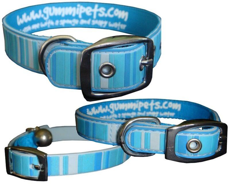 Gummi Collars - Blue Stripes