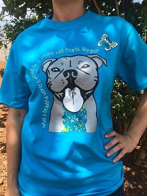 Have a Heart Like a Dog Blue T-shirt