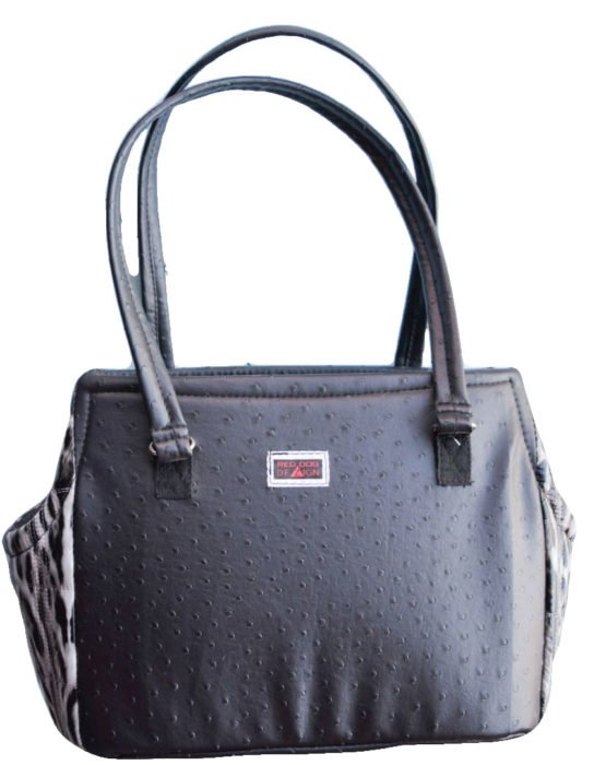 Faux Leather Bag with Leopard Print