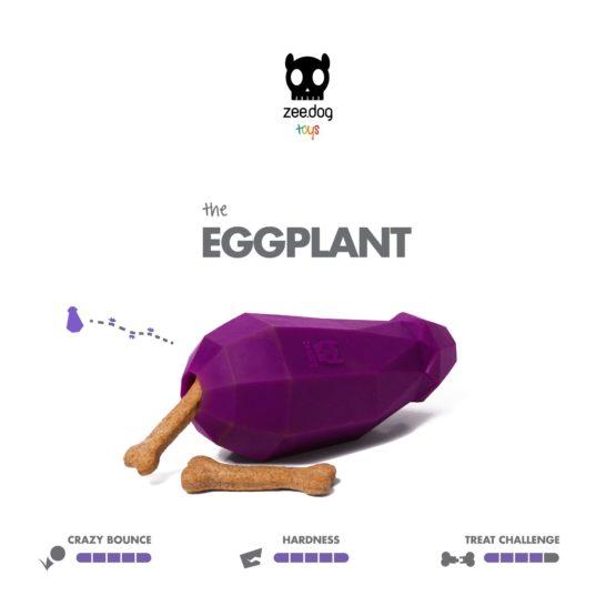 SuperVeggiez Eggplant Treat Toy