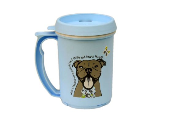 Travel Mugs with Dogtown logo - Royal Blue