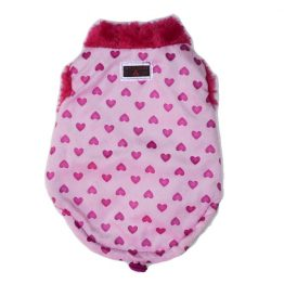 Pink Heart Sweater with Satin Lining