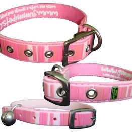 Gummi Collars - Pink Stripes