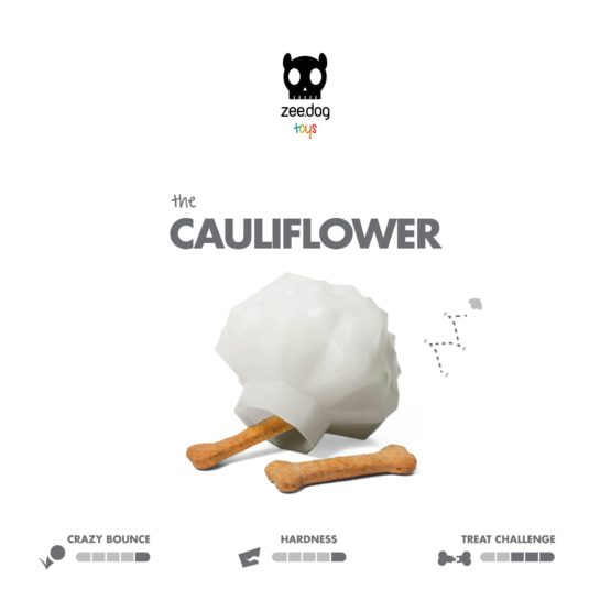 SuperVeggiez Cauliflower Treat Toy